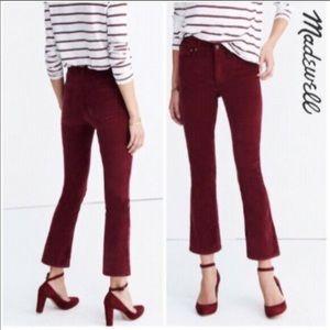 Madewell burgundy velvet pants
